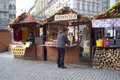 Typical gastronomic stand in prague the stand will sell foods of traditional czech cuisine Royalty Free Stock Image