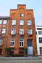 Typical German residential house in Lubeck Royalty Free Stock Photo
