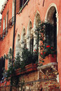 Typical gothic venetian architecture detail Stock Image