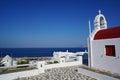 Typical greek chapel on Mykonos island, Cyclades, Greece Royalty Free Stock Photo