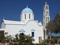 Typical greek church on the island of karpathos Stock Photography