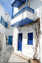 Typical greek island homes - Paros Island, Greece Royalty Free Stock Photo