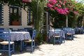 Typical greek taverna Royalty Free Stock Photo