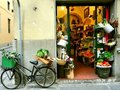 Typical small italian grocery shop in Florence, Italy Royalty Free Stock Photo