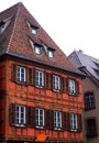 Typical half timbered house at Obernai - Alsace Stock Image