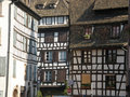 Typical half timbered houses in strasbourg france the historic town center has many preserved Royalty Free Stock Photos