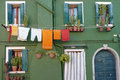 A Typical Home in Burano Royalty Free Stock Photo