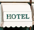 Typical hotel sign italy Royalty Free Stock Photo