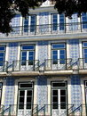 Typical house with azulejos Royalty Free Stock Photo