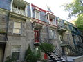 Typical House of Montreal in Canada Royalty Free Stock Photo
