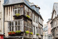 Typical house rennes french timbered in Royalty Free Stock Photos