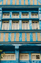 Typical house rennes french timbered in Stock Image