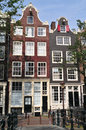 Typical houses in Amsterdam Royalty Free Stock Photo
