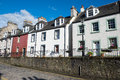 Typical houses in south queensferry a row of seen scotland Royalty Free Stock Photo