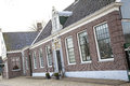 Typical houses in zaanse schans museum netherlands Royalty Free Stock Photos