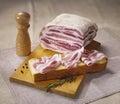 Typical italian bacon Stock Photos