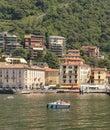Italian villa and mountain village on Lake Como, Italy Royalty Free Stock Photo