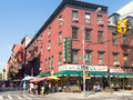 Typical italian restaurant at Little Italy in New York Royalty Free Stock Photo