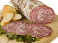Typical Italian salami Royalty Free Stock Photos