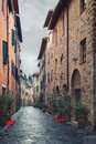 A typical italian street picturesque nook of tuscany italy Royalty Free Stock Photography