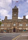 Typical lancashire town centre colne uk Royalty Free Stock Photo