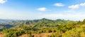 Typical landscape at interior of Azuero Peninsula in Panama. Royalty Free Stock Photo