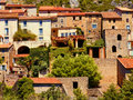 Typical languedoc village Stock Photo
