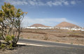 Typical Lanzarote Island landscape Stock Image