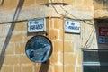 Street name signs - Malta Royalty Free Stock Photo