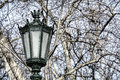Typical metal street lamp at lisbon portugal Stock Image