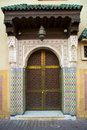 Typical Moroccan doorway Royalty Free Stock Photos