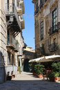 Typical narrow street in Palermo, Sicily, Italy Stock Image