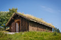 Typical norwegian building with grass on the roof see my other works in portfolio Stock Photography