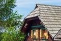 A typical old alpine hut in austria kärnten Royalty Free Stock Photo
