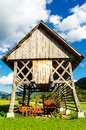 Typical Old Barn In Slovenia