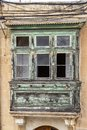 Typical old bay window in Rabat, Malta Royalty Free Stock Photo