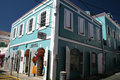 Typical old building touristic shops charlotte amalie st thomas island american virgin islands Royalty Free Stock Image