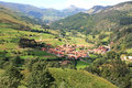 Typical old village Cantabria, Spain Royalty Free Stock Photo