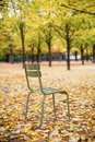 Typical park chair in the luxembourg garden paris parisian Royalty Free Stock Photos