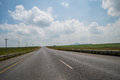Typical Pastoral Landscape with Highway close to Golden Gate Royalty Free Stock Photo