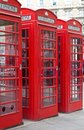 Typical red London phone booth Stock Images