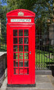 Typical red telephone booth a in london Royalty Free Stock Images