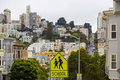 Typical San Francisco hilly neighborhood, California, USA Royalty Free Stock Photo