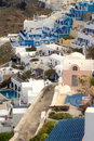 Typical scene from the Greek island of Santorini Royalty Free Stock Image