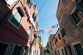 Typical Scene of Venice City in Italy. Stock Images