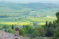 Typical scenic Tuscan view Royalty Free Stock Image