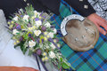 Typical scottish wedding, outlet, Royalty Free Stock Photography
