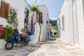 Typical small street in a Greece Stock Image