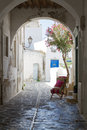 Typical small street in Greece Royalty Free Stock Photography