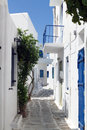 Typical small street in Greece Royalty Free Stock Photos